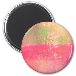 Abstract Grunge Watercolor Print Magnet