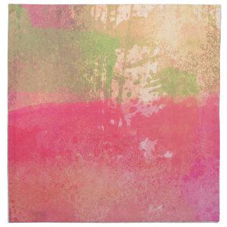 Abstract Grunge Watercolor Print Napkin