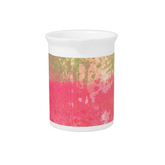 Abstract Grunge Watercolor Print Pitcher