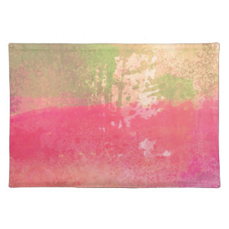 Abstract Grunge Watercolor Print Placemat