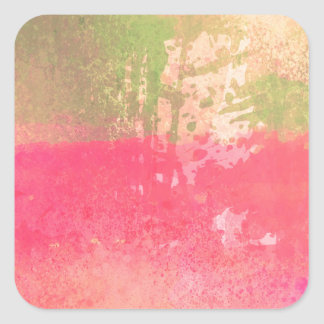 Abstract Grunge Watercolor Print Square Sticker