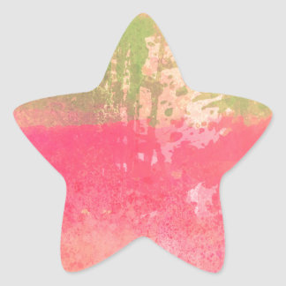Abstract Grunge Watercolor Print Star Sticker