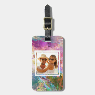 Abstract Grunge Watercolor Texture | Add your Name Bag Tag