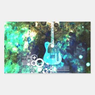 Abstract Guitar Art Sticker