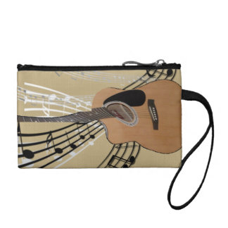 Abstract Guitar Bag Change Purses