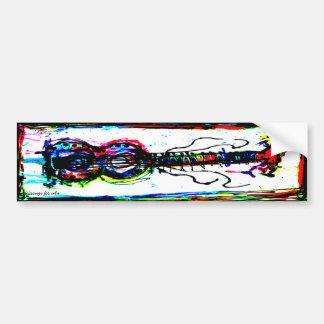 abstract guitar bumper sticker