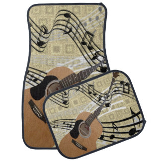 Abstract Guitar Car Mats