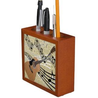 Abstract Guitar Desk Organizer