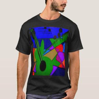 Abstract Guitar Men's Basic Dark T-Shirt
