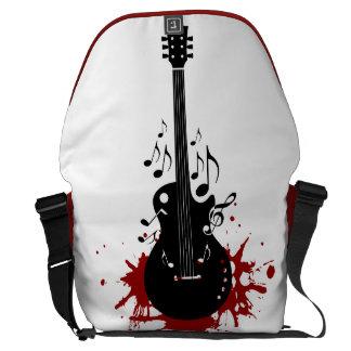 Abstract guitar music background messenger bag