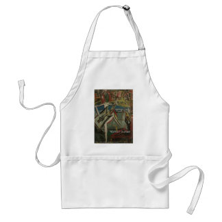 abstract guitarist adult apron