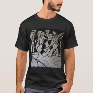 ABSTRACT GUITARIST BLACK WHITE T-Shirt