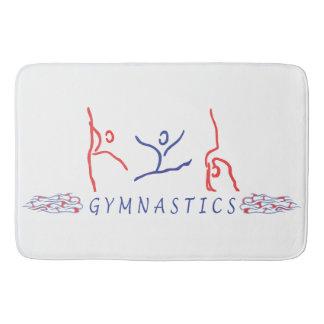 Abstract Gymnastics Bath Mat