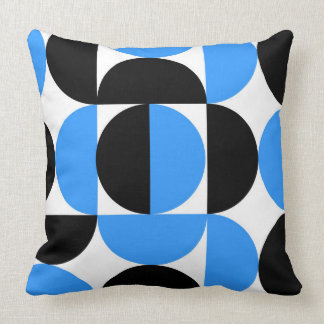Abstract Half Circle Pillow - Blue