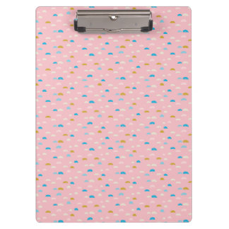 Abstract Half Moon Pink Patterned Clipboard