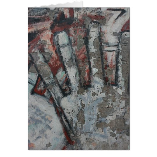 Abstract - hand card