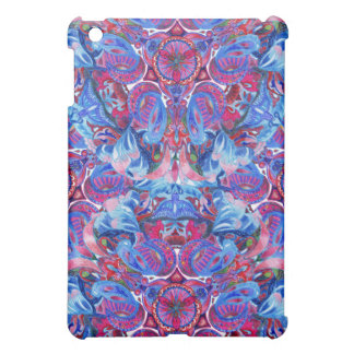 Abstract hand drawing boho pattern with birds cover for the iPad mini