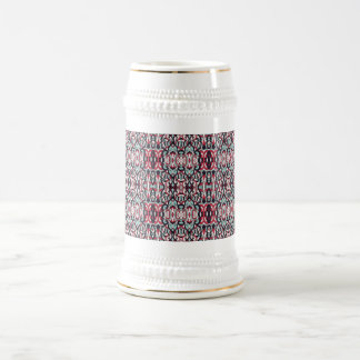 Abstract hand drawn colorful pattern. beer stein