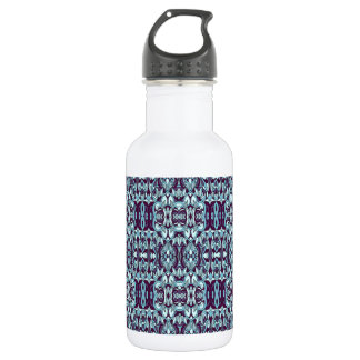Abstract hand drawn pattern. Blue color. 532 Ml Water Bottle