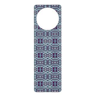 Abstract hand drawn pattern. Blue color. Door Hanger