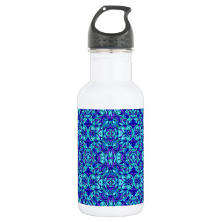 Abstract hand-drawn pattern. Blue cyan color. 532 Ml Water Bottle
