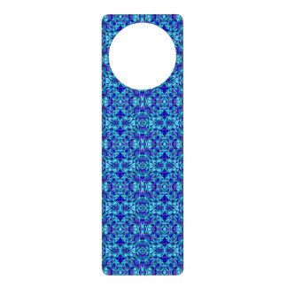 Abstract hand-drawn pattern. Blue cyan color. Door Hanger