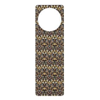 Abstract hand drawn pattern. Brown color. Door Hanger