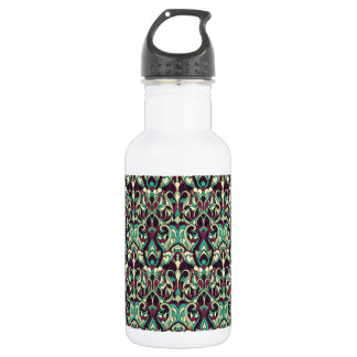 Abstract hand drawn pattern. Green colors. 532 Ml Water Bottle