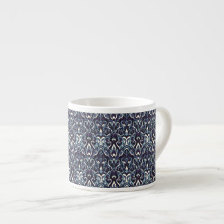 Abstract hand drawn pattern. Navy color.