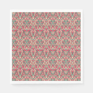 Abstract hand drawn pattern. Pink color Disposable Serviettes