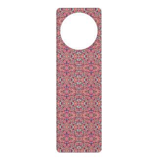 Abstract hand drawn pattern. Pink color. Door Hanger