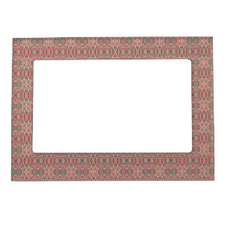 Abstract hand drawn pattern. Pink color. Magnetic Picture Frame