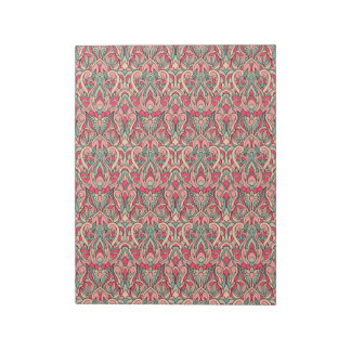 Abstract hand drawn pattern. Pink color Notepad