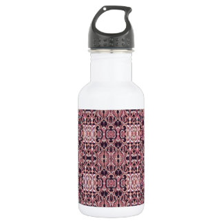 Abstract hand drawn pattern. Pink violet colors. 532 Ml Water Bottle