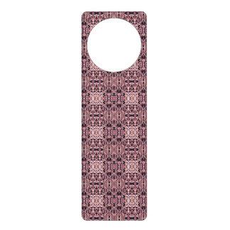 Abstract hand drawn pattern. Pink violet colors. Door Hanger