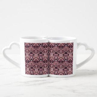 Abstract hand drawn pattern. Purple color. Coffee Mug Set
