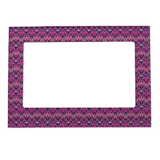 Abstract hand drawn pattern. Purple color. Magnetic Picture Frame