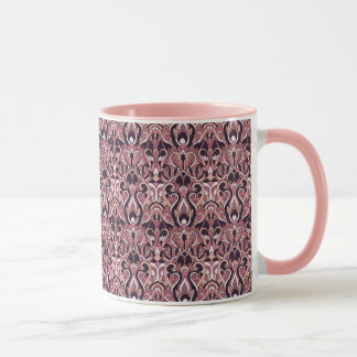 Abstract hand drawn pattern. Purple color. Mug