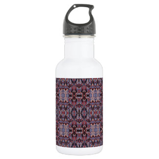 Abstract hand drawn pattern. Purple colors. 532 Ml Water Bottle