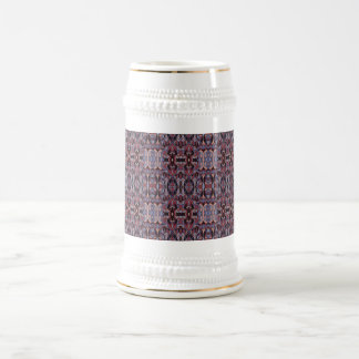 Abstract hand drawn pattern. Purple colors. Beer Stein