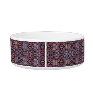 Abstract hand drawn pattern. Purple colors. Bowl