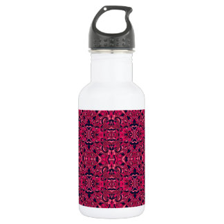 Abstract hand drawn pattern. Purple pink colors. 532 Ml Water Bottle