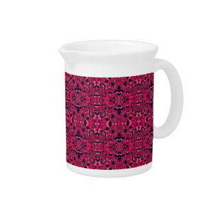 Abstract hand drawn pattern. Purple pink colors. Pitcher