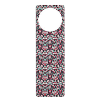 Abstract hand drawn pattern. Red blue color. Door Knob Hanger