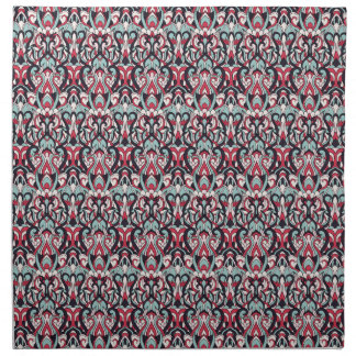 Abstract hand drawn pattern. Red blue color. Napkin