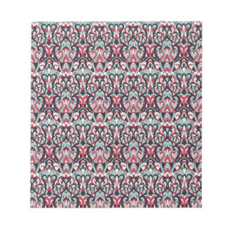 Abstract hand drawn pattern. Red blue color. Notepad