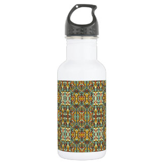 Abstract hand drawn pattern. Retro color. 532 Ml Water Bottle