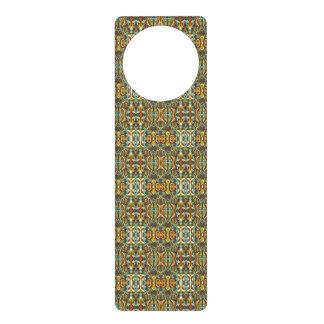 Abstract hand drawn pattern. Retro color. Door Hanger