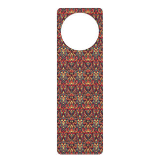 Abstract hand drawn pattern. Retro colors. Door Knob Hanger