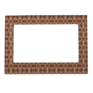 Abstract hand-drawn pattern. Warm color. Magnetic Picture Frame